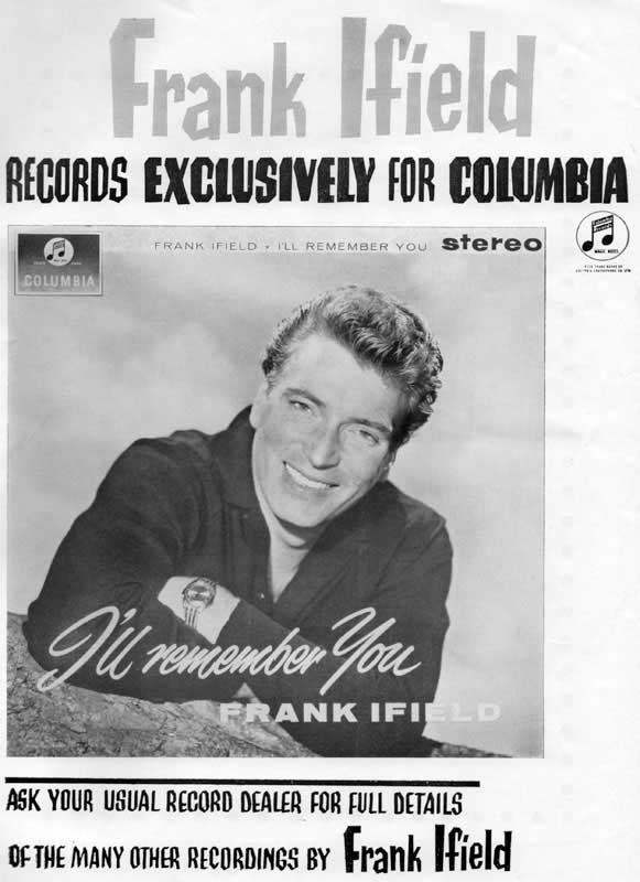 Frank Ifield / Charlie Drake I Remember You / My Boomerang Won't Come Back